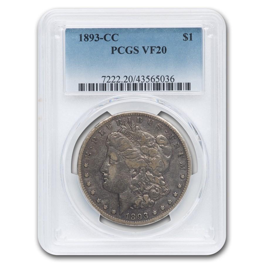 1893-CC Morgan Dollar VF-20 PCGS