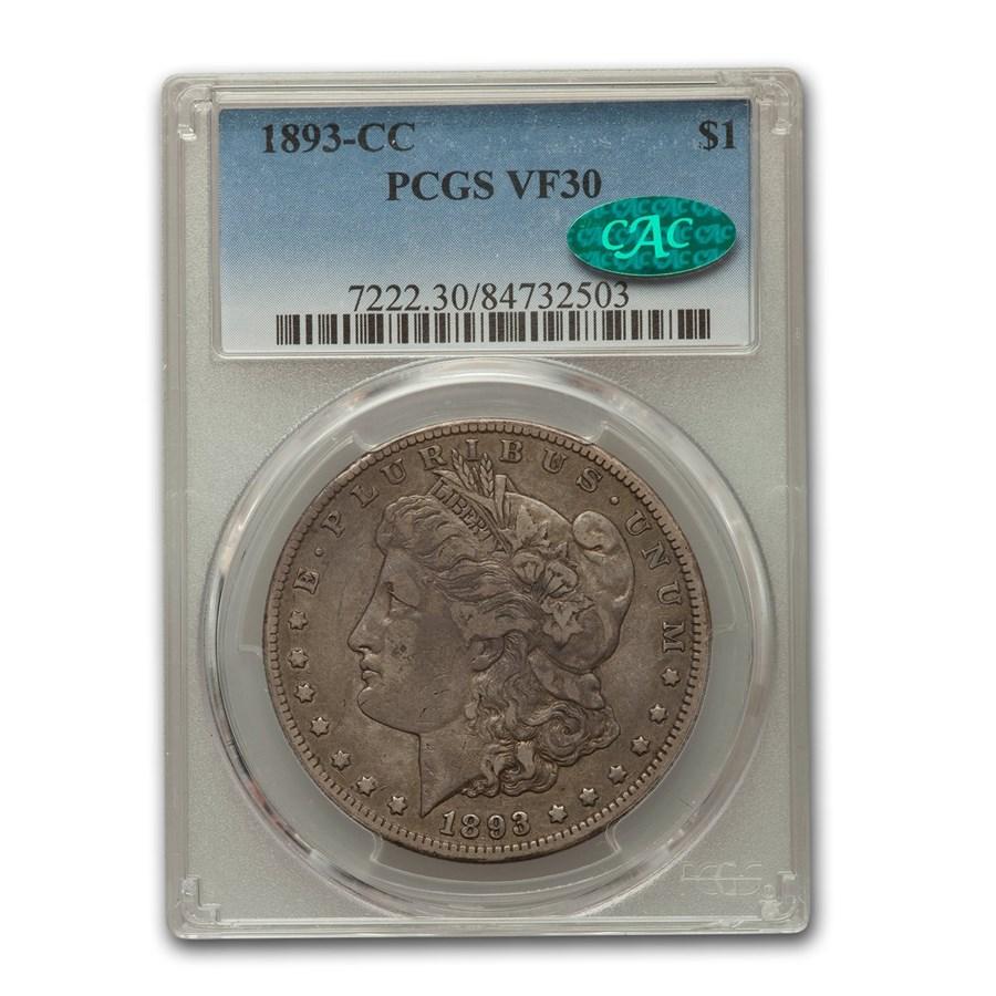 1893-CC Morgan Dollar VF-30 PCGS CAC