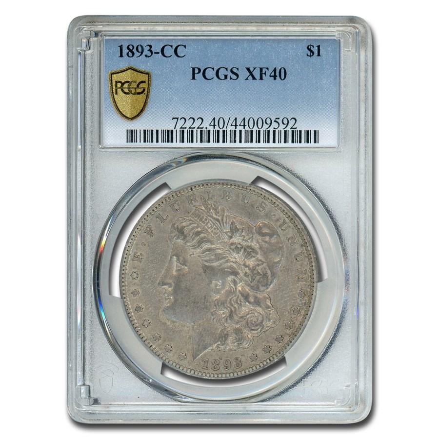 1893-CC Morgan Dollar XF-40 PCGS
