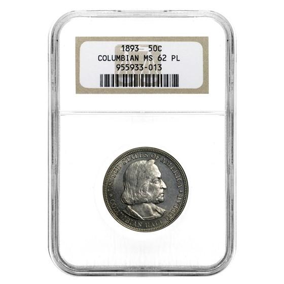 1893 Columbian Expo Half Dollar MS-62 PL NGC