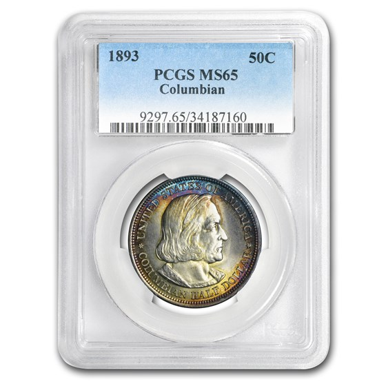 1893 Columbian Expo Half Dollar MS-65 PCGS (Toned)