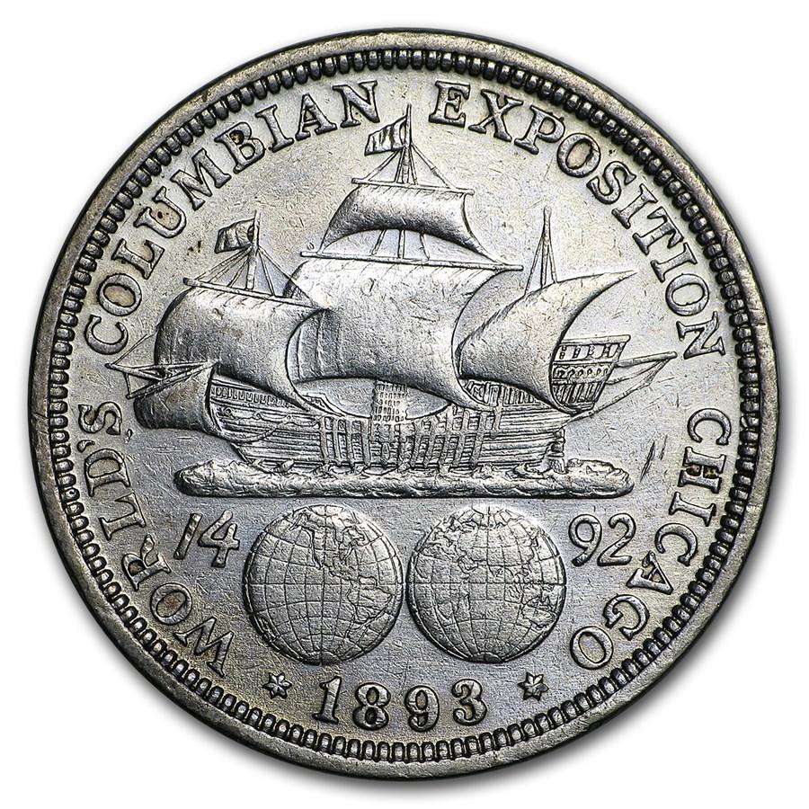 1893 Columbian Expo Half Dollar XF