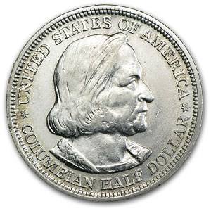 1893 Columbian Expo Silver Half Dollar XF Details (Cleaned)