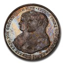 1893 German States Silvered AE Medal of 2 Thaler Weight SP-64PCGS