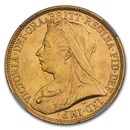 1893 Great Britain Gold 2 Pounds MS-64+ NGC