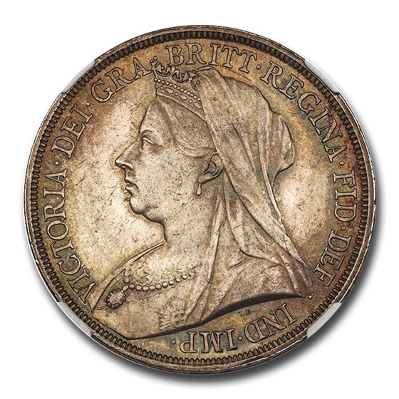 1893 Great Britain Silver Crown Victoria Veil MS-63 NGC