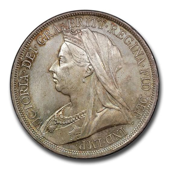 1893 Great Britain Silver Crown Victoria Veil MS-64+ PCGS
