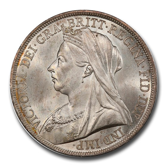 1893 Great Britain Silver Crown Victoria Veil MS-65 PCGS