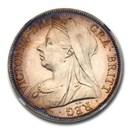 1893 Great Britain Silver Half Crown Victoria Veil PR-64 NGC