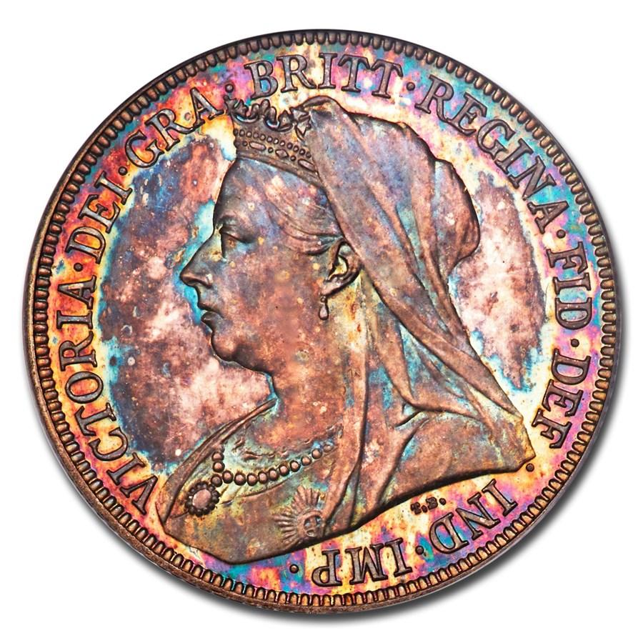 1893 Great Britain Silver Shilling Queen Victoria PR-66 PCGS