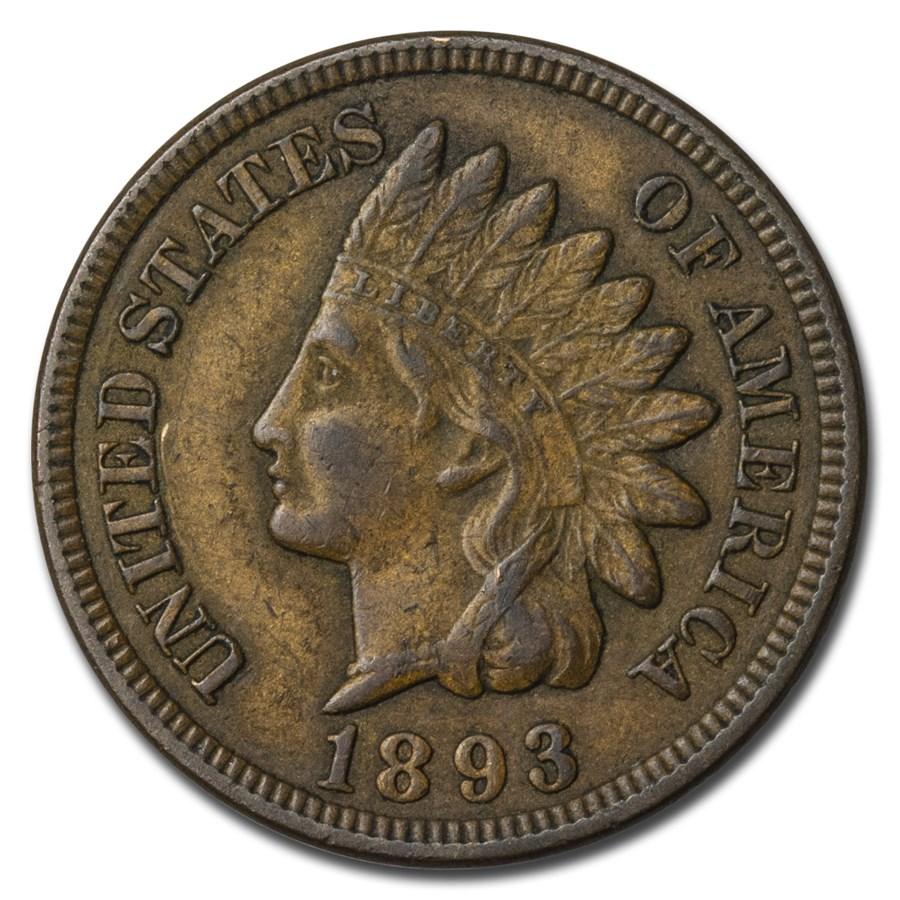 1893 Indian Head Cent AU
