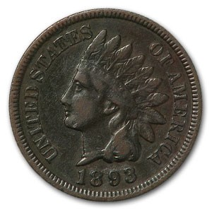 1893 Indian Head Cent VF