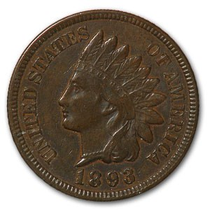 1893 Indian Head Cent XF