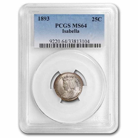 1893 Isabella Commemorative Quarter MS-64 PCGS
