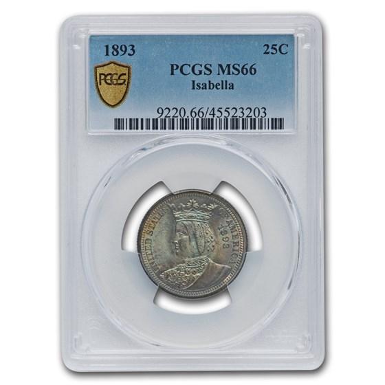 1893 Isabella Commemorative Quarter MS-66 PCGS