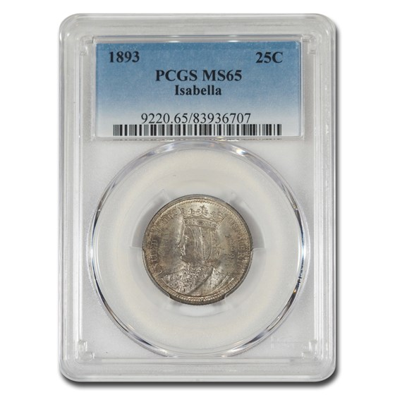 1893 Isabella Quarter MS-65 PCGS