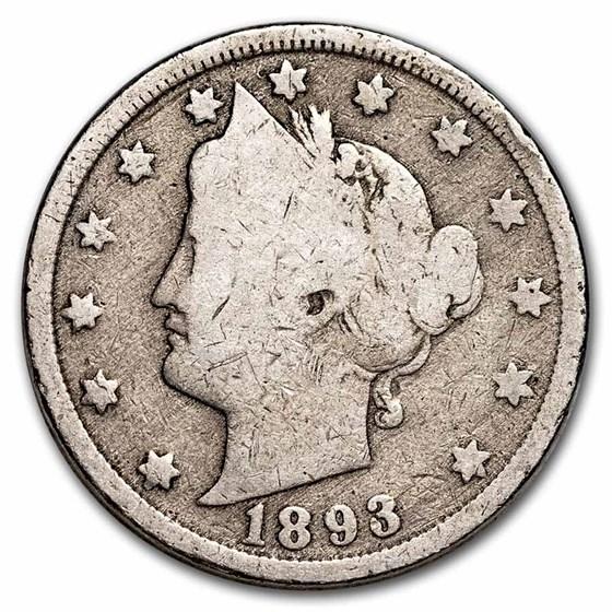 1893 Liberty Head V Nickel AG
