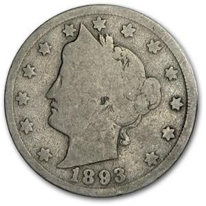 1893 Liberty Head V Nickel Good