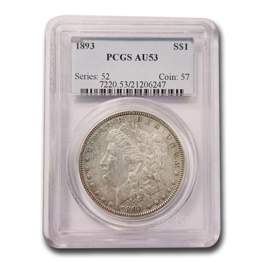 1893 Morgan Dollar AU-53 PCGS