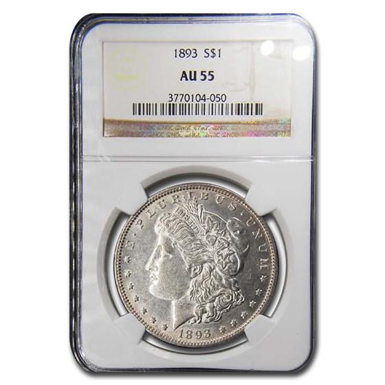 1893 Morgan Dollar AU-55 NGC
