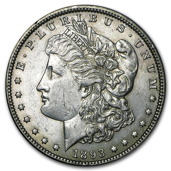1893 Morgan Dollar AU-58