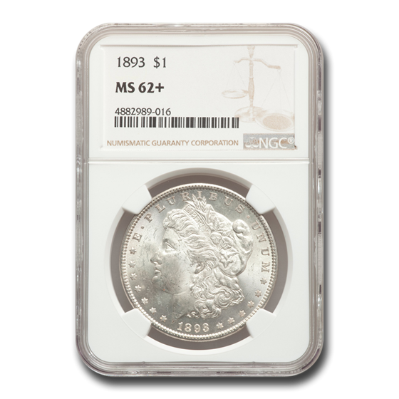 1893 Morgan Dollar MS-62+ NGC