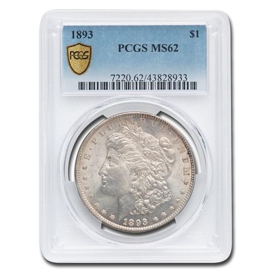 1893 Morgan Dollar MS-62 PCGS