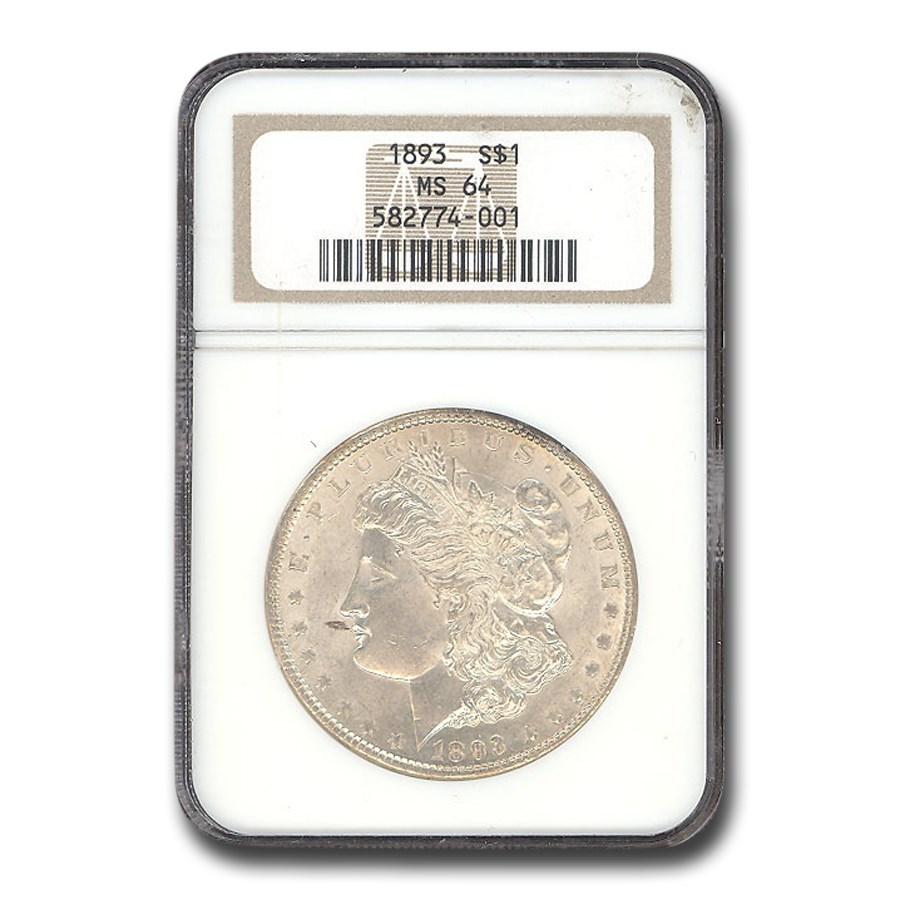 1893 Morgan Dollar MS-64 NGC