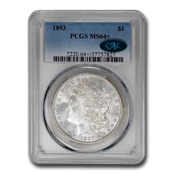 1893 Morgan Dollar MS-64+ PCGS CAC