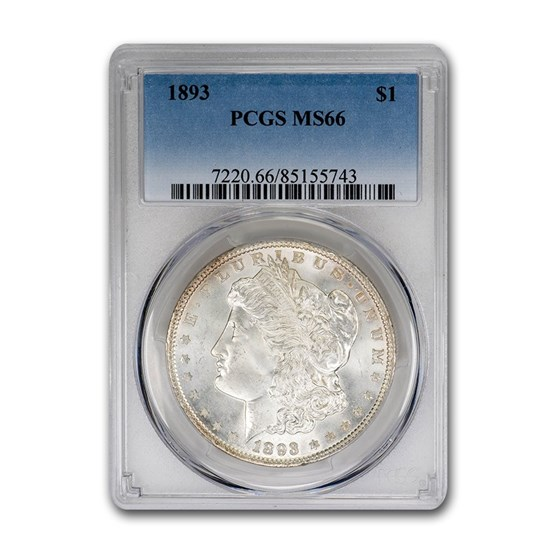1893 Morgan Dollar MS-66 PCGS