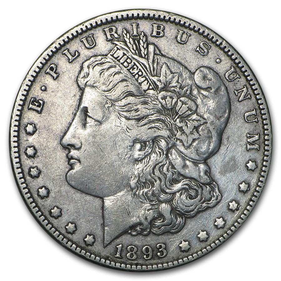 1893 Morgan Dollar XF (Cleaned)