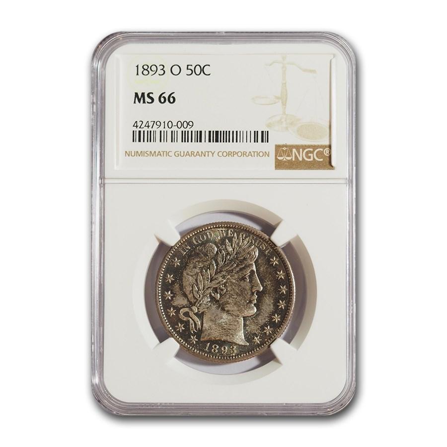 1893-O Barber Half Dollar MS-66 NGC