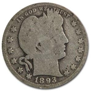 1893-O Barber Quarter Good