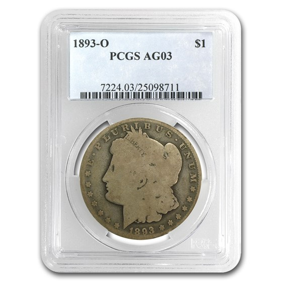 1893-O Morgan Dollar AG-3 PCGS (Low Ball Registry)