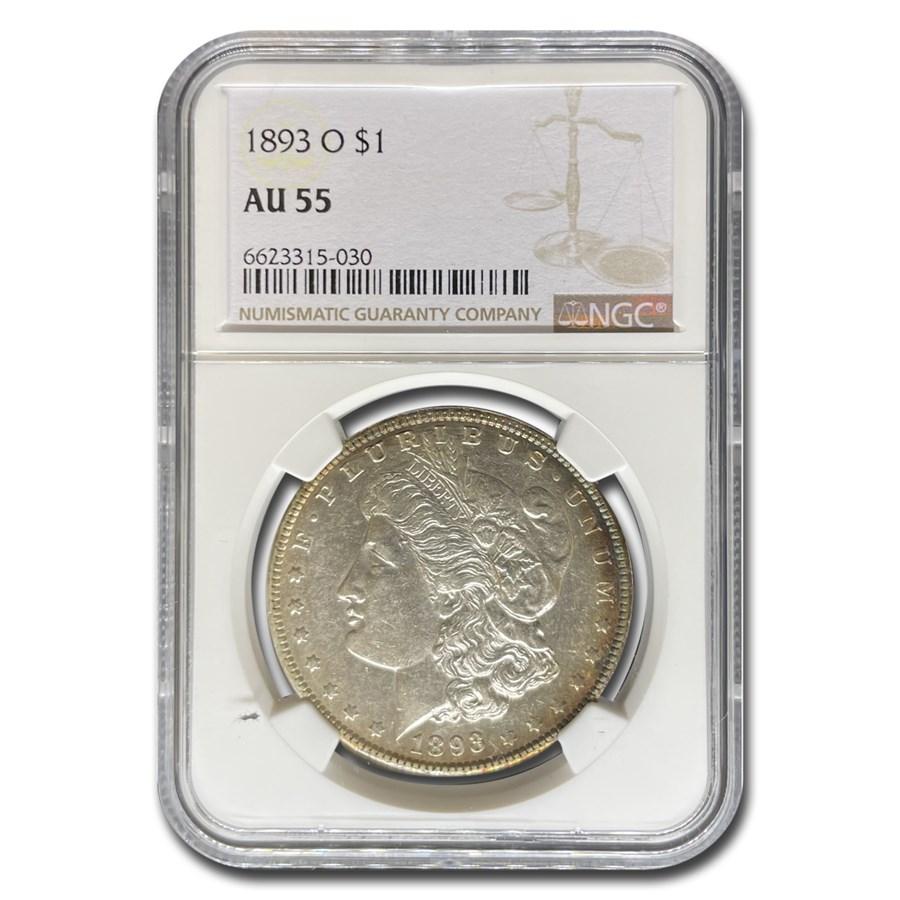 1893-O Morgan Dollar AU-55 NGC
