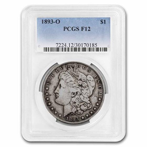 1893-O Morgan Dollar Fine-12 PCGS