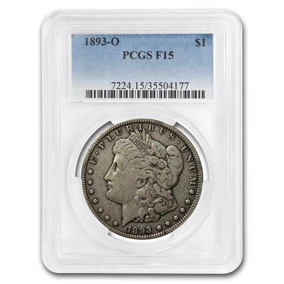 1893-O Morgan Dollar Fine-15 PCGS