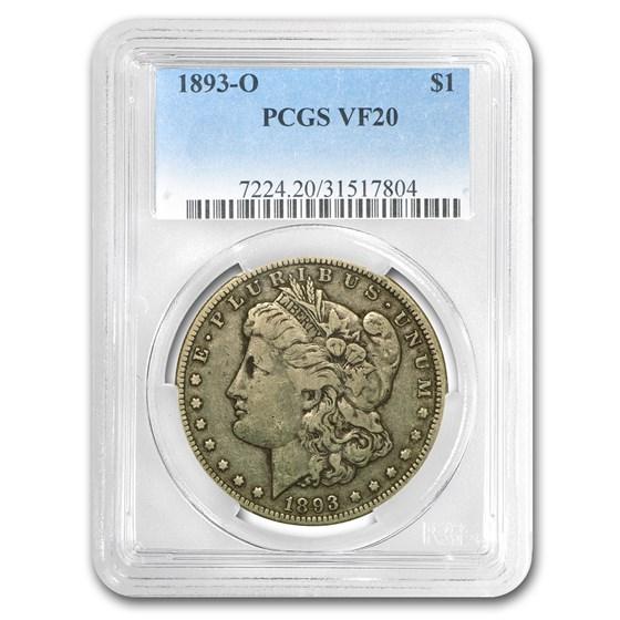 1893-O Morgan Dollar VF-20 PCGS