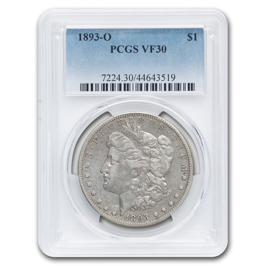 1893-O Morgan Dollar VF-30 PCGS