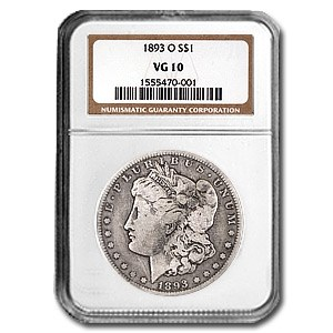 1893-O Morgan Dollar VG-10 NGC