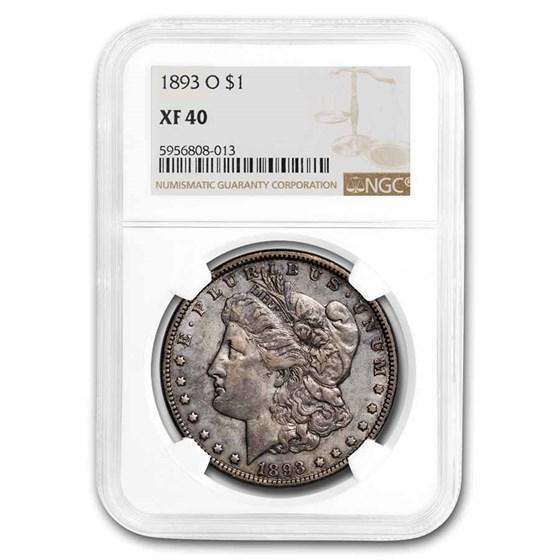 1893-O Morgan Dollar XF-40 NGC