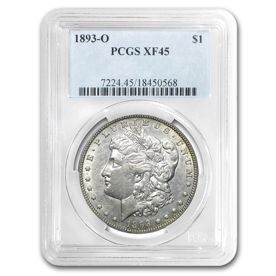 1893-O Morgan Dollar XF-45 PCGS