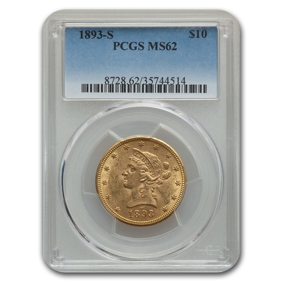1893-S $10 Liberty Gold Eagle MS-62 PCGS