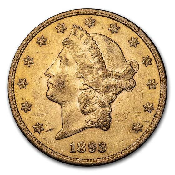 1893-S $20 Liberty Gold Double Eagle AU