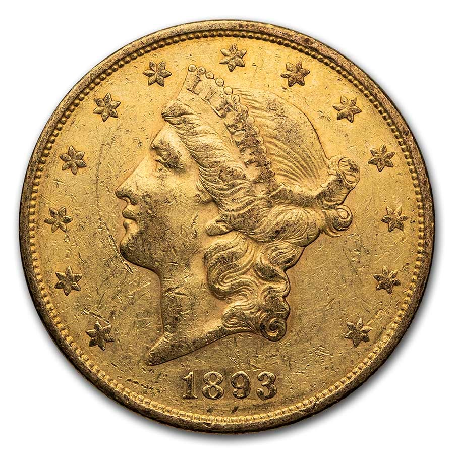 1893-S $20 Liberty Gold Double Eagle XF