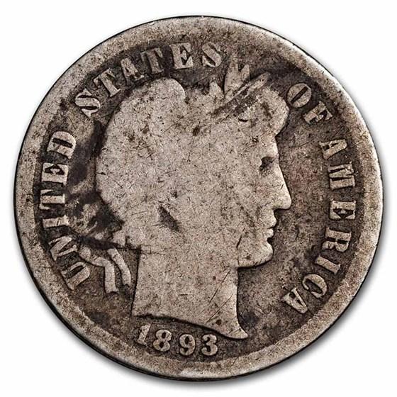 1893-S Barber Dime AG