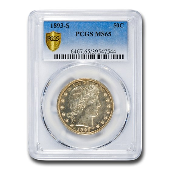 1893-S Barber Half Dollar MS-65 PCGS