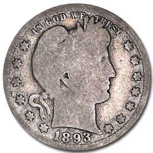 1893-S Barber Quarter AG