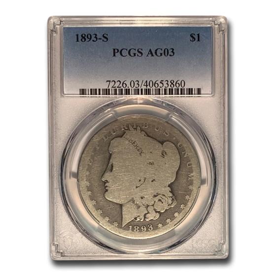 1893-S Morgan Dollar AG-03 PCGS