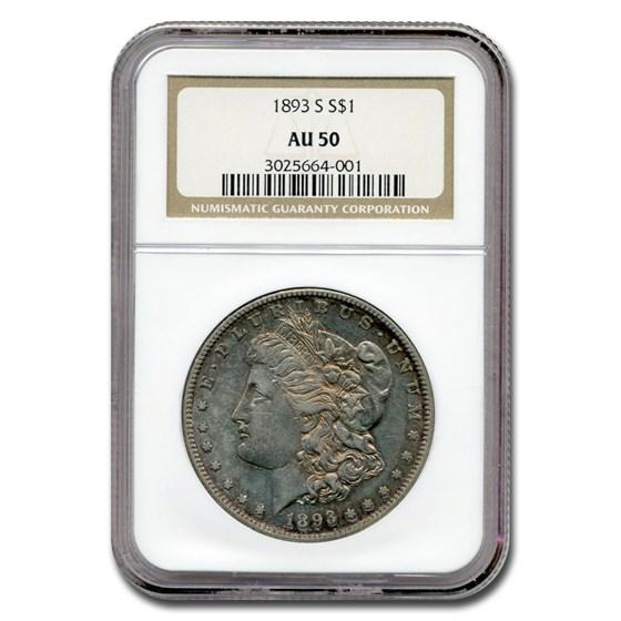 1893-S Morgan Dollar AU-50 NGC